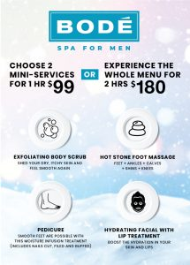 Winter Special available until March 31. Choose 2 services for $99 or all 4 services for $180.