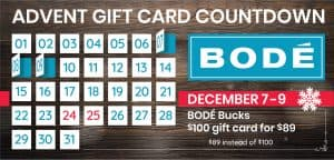 From December 7 until December 9. Buy this gift card special: $100 gift card for only $89.